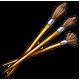 Gold Paintbrushes